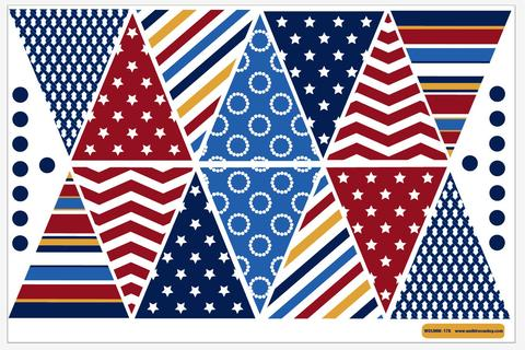 American Bunting Flag 5x3 Polyester
