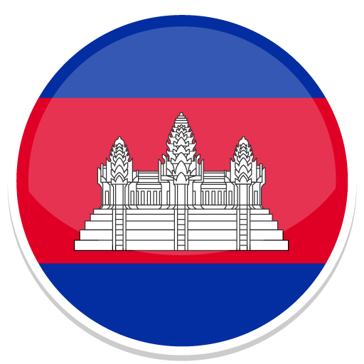 Cambodia Icon | Round World Flags Iconset | Custom Icon Design