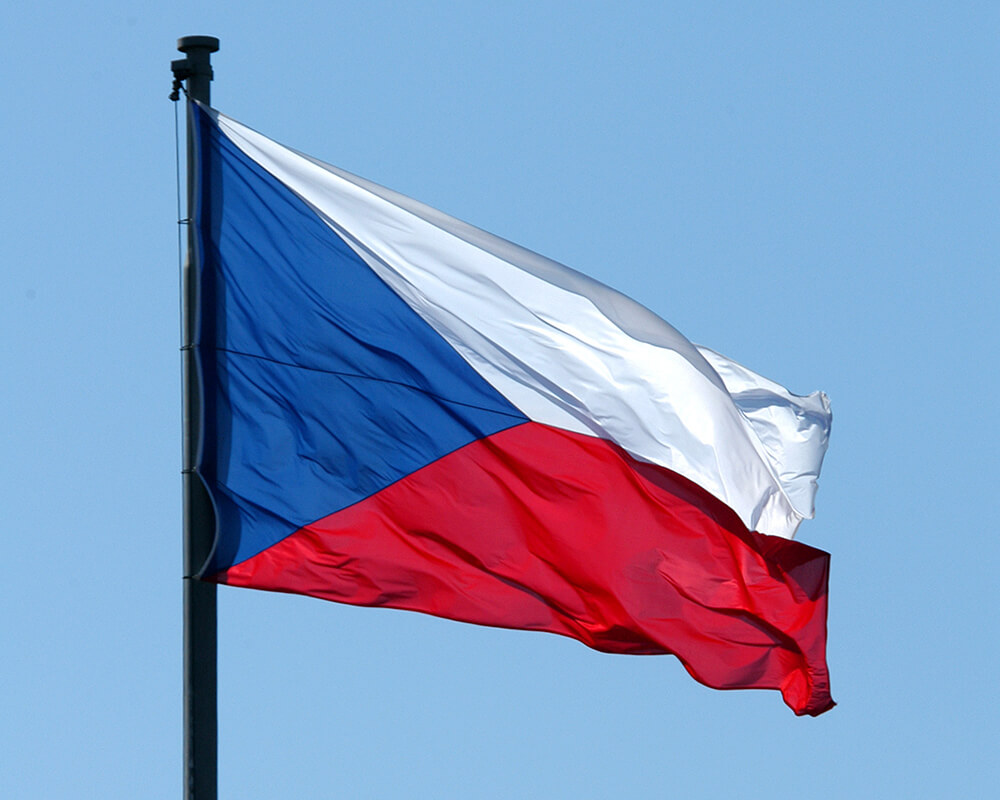 The official flag of the Czech Republic