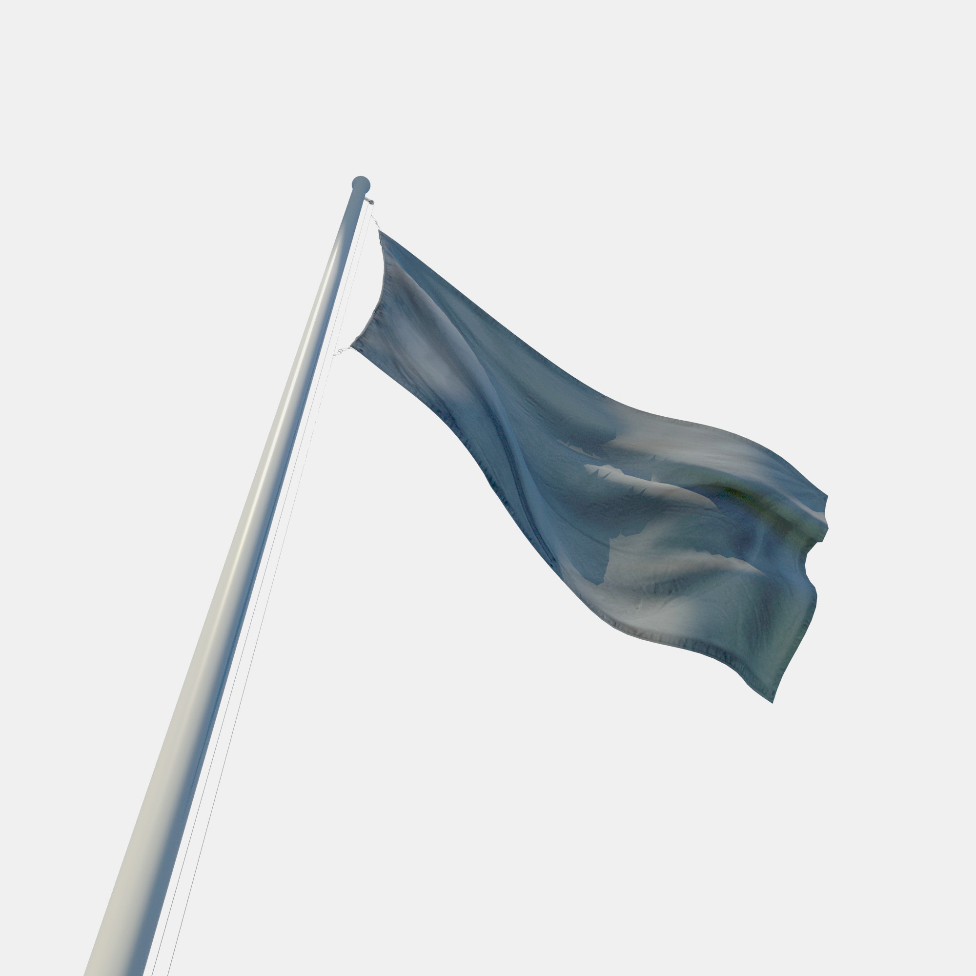 Flagpole & Flag 3D Model ShareCG