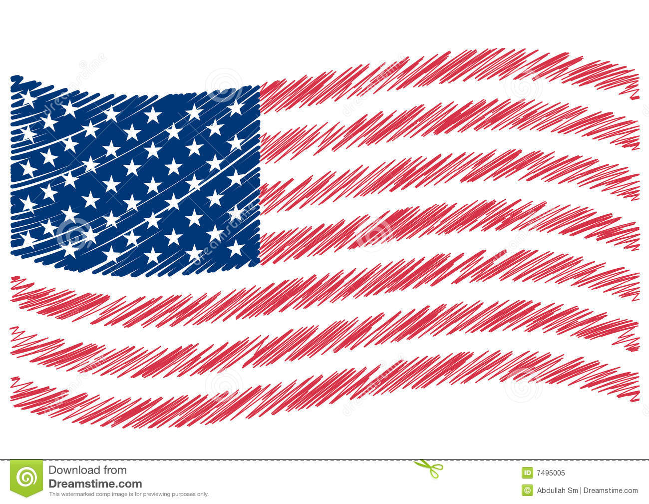 USA Flag Art Royalty Free Stock Photo Image: 7495005