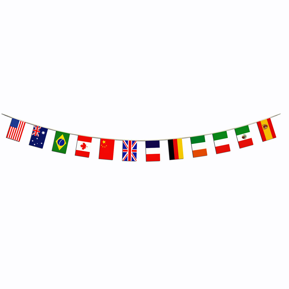 International World Flag Border Banner | 12 Countries | Theme
