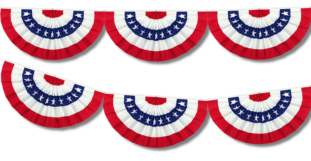 American Flag Bunting Clipart Clipart Kid