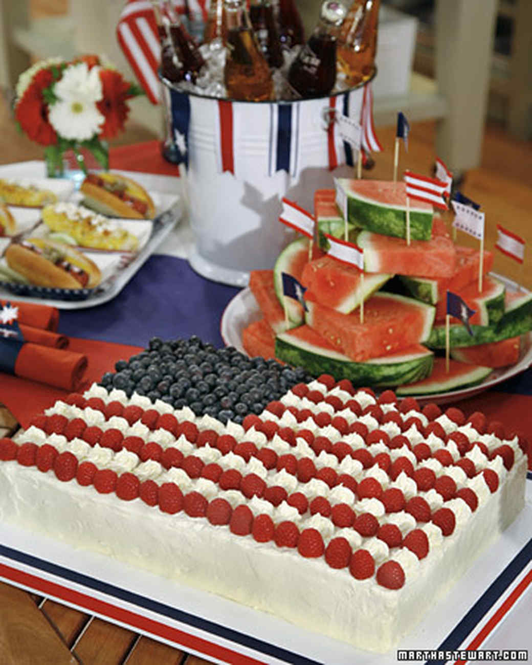 Celebrate July 4th with a Red, White and Blue Flag Cake Priority