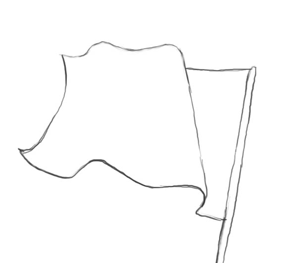 Waving American Flag Drawing | Free Download Clip Art | Free Clip