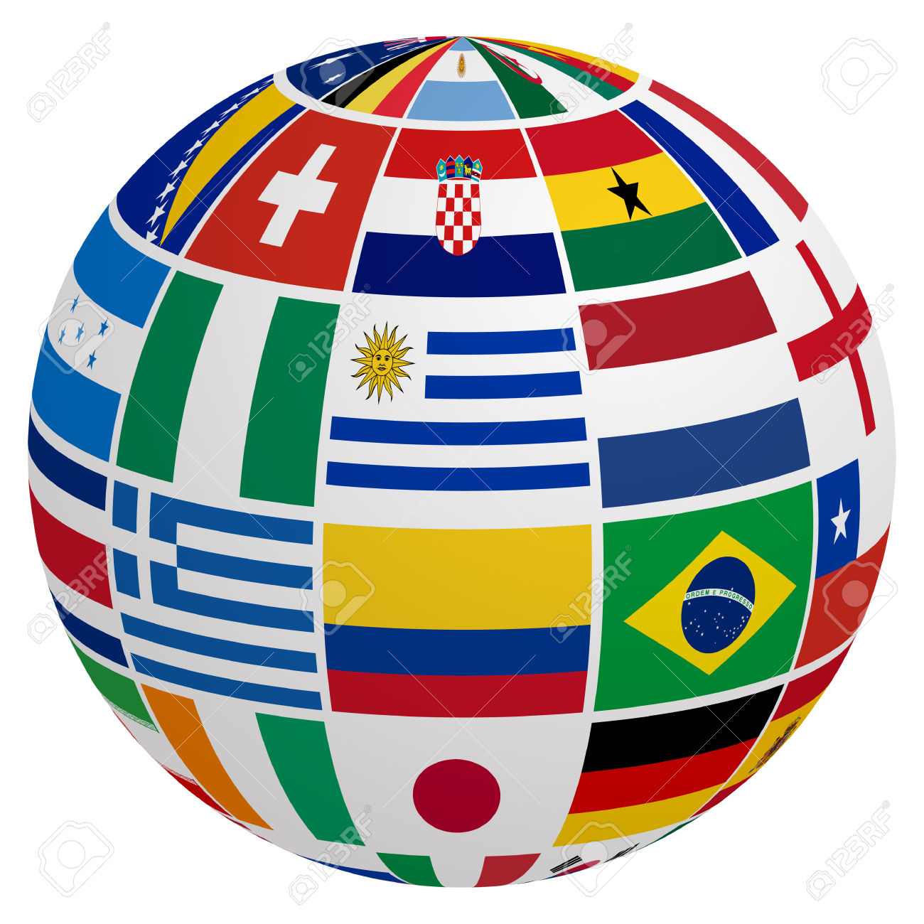 Globe Of Soccer Team Flag Royalty Free Cliparts, Vectors, And