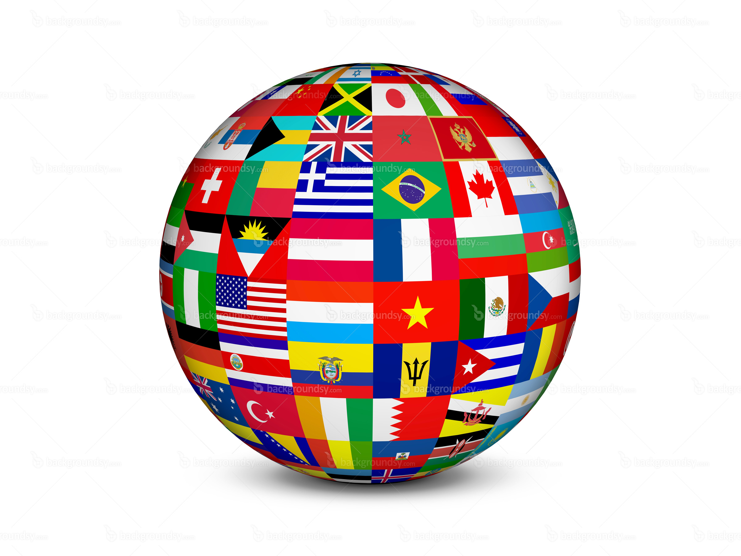 World flags globe | Backgroundsy.com