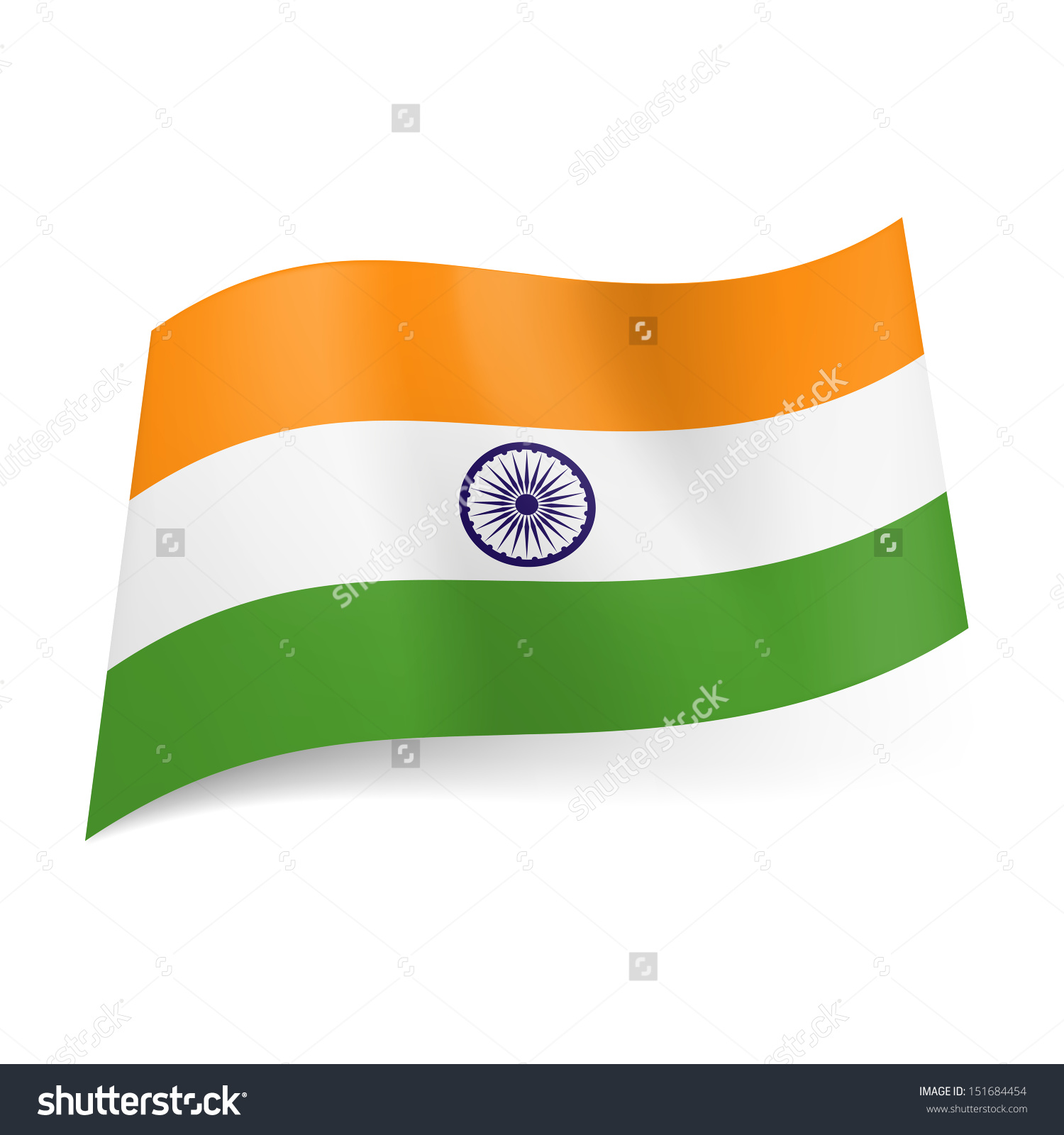Green White Orange Flags of nations