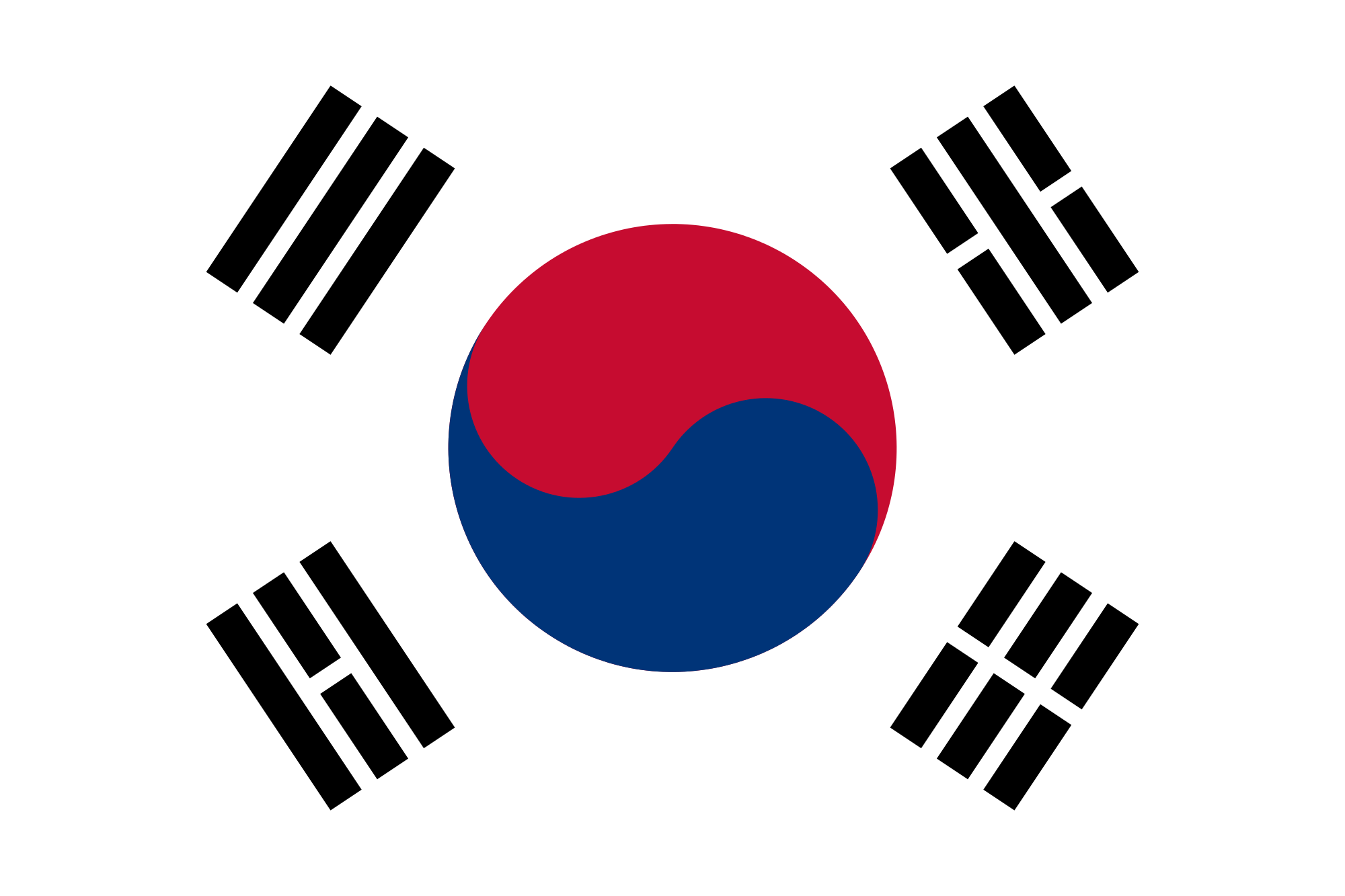 South Korea's Flag EnchantedLearning.com