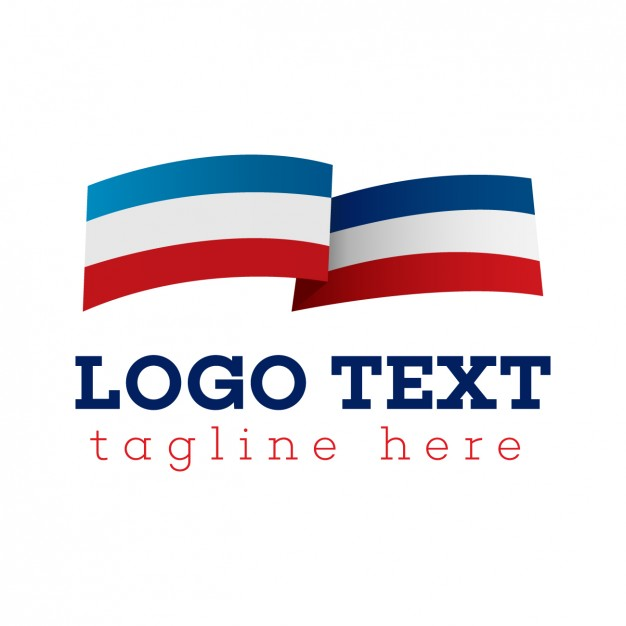 Flag logo, blue, white and red Vector | Free Download