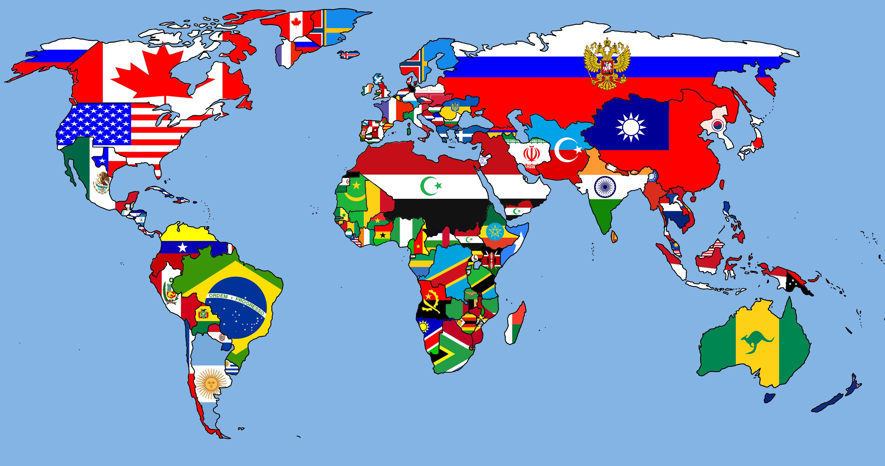 Alterative world map The flag map next years YouTube