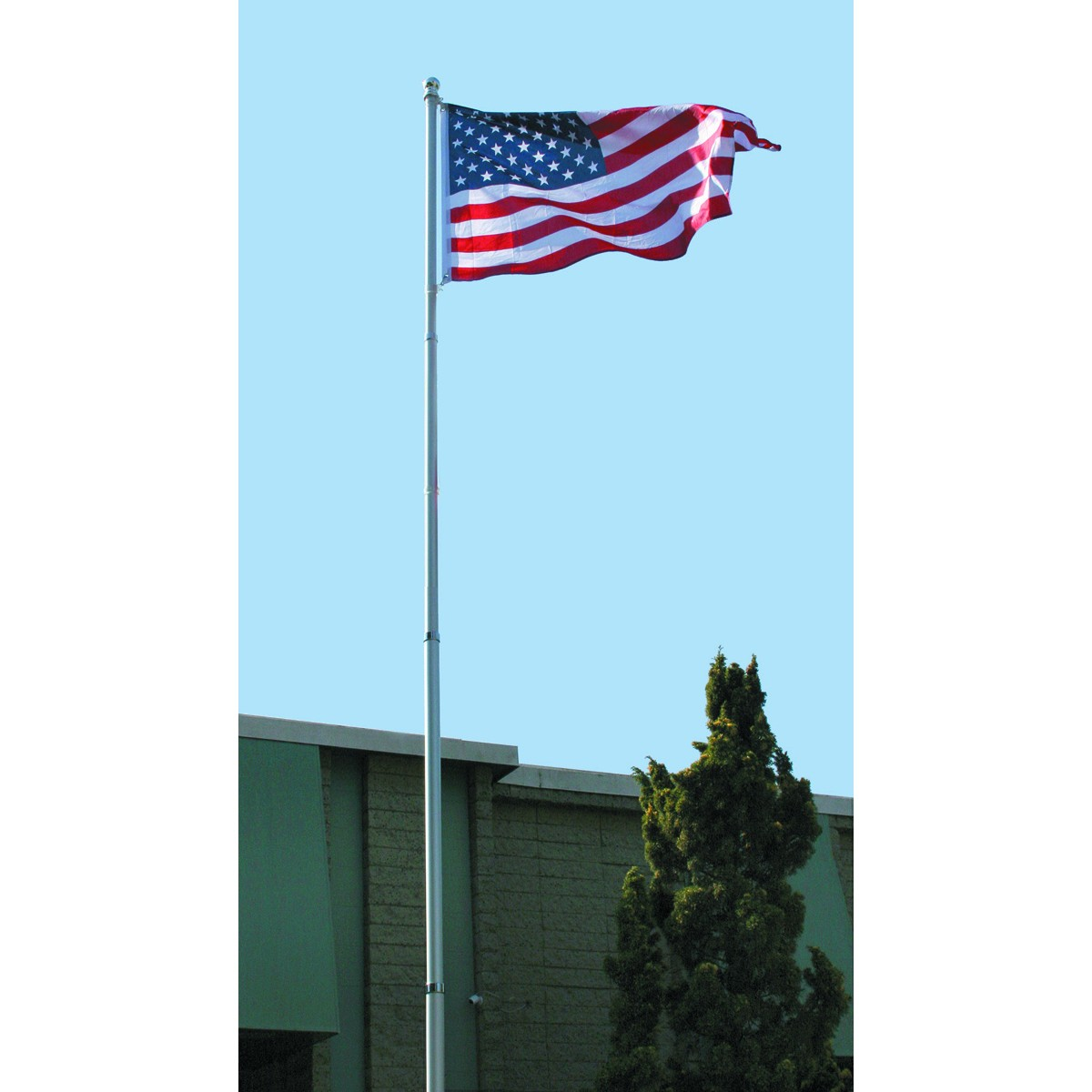 Flag Pole Kit 20 Ft. Telescoping Flag Pole