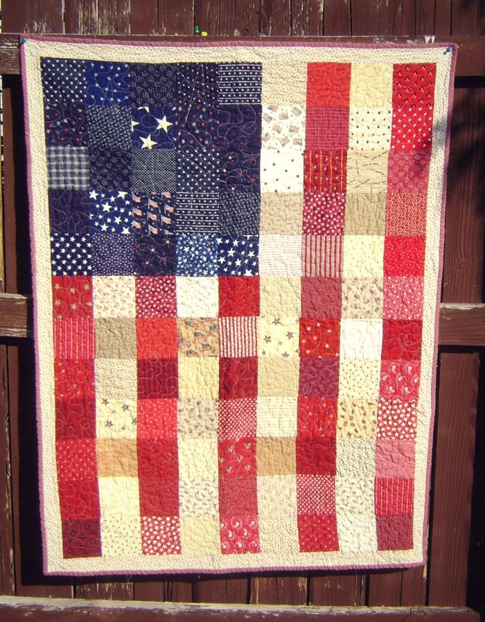 American Flag Quilt Tutorial | Quilt, Diary of and Blog