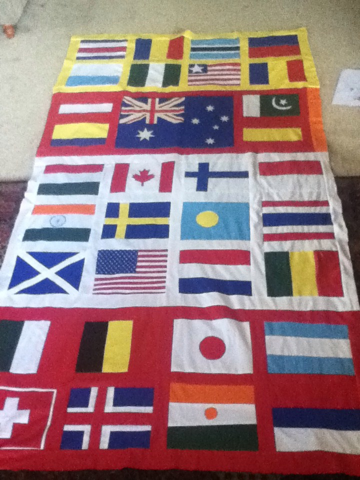 Making: World Flags Quilt | Flag quilt, Olympic flag and Quilt