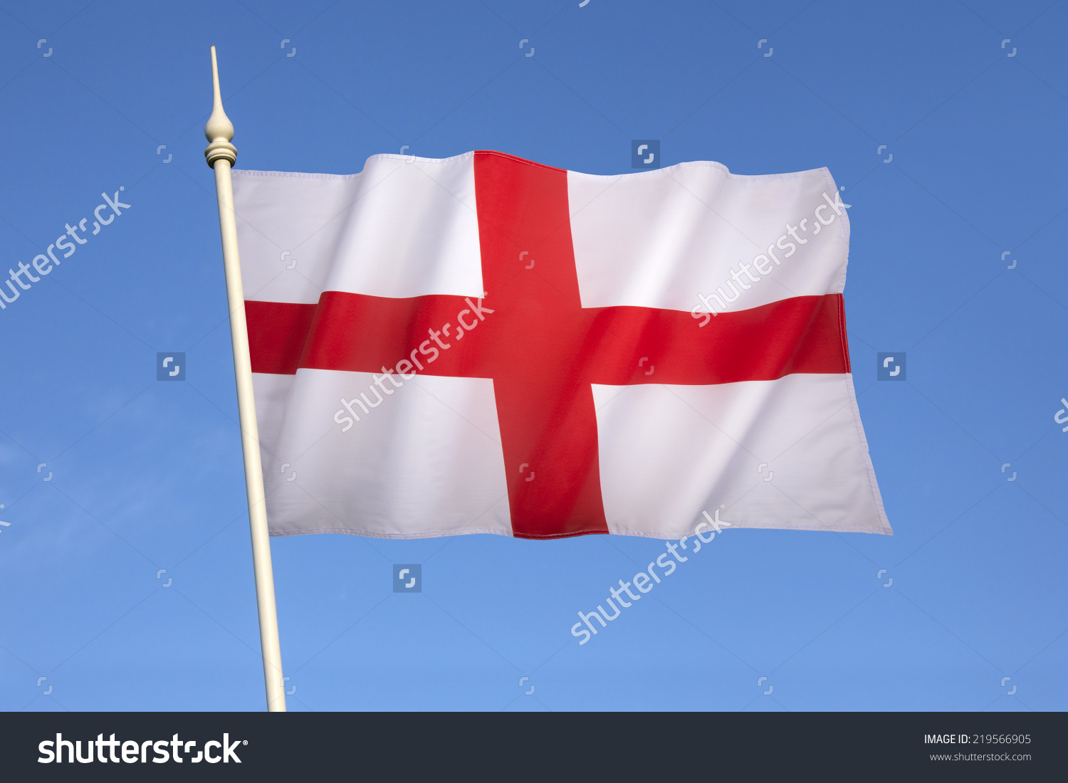 Flag With Red Cross  printable flags
