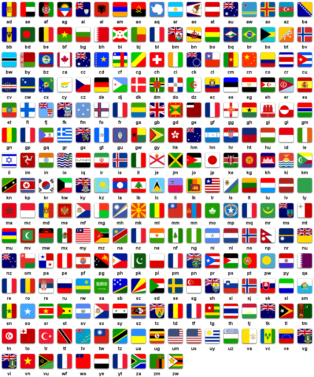 G20 Country Flags Vector Illustration Stock Vector 21883399