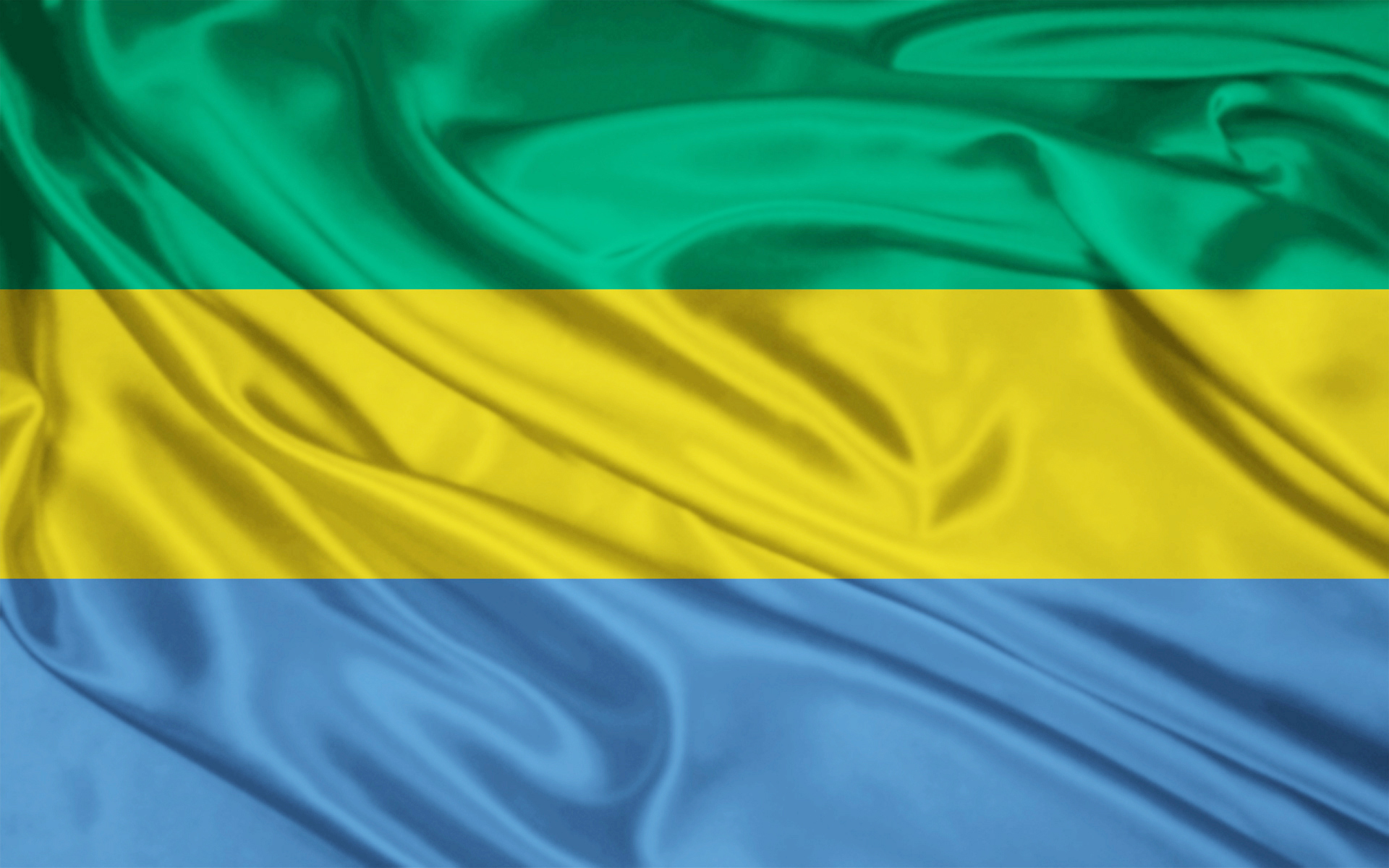 The Flag of Gabon! Green represents the forest, yellow represents