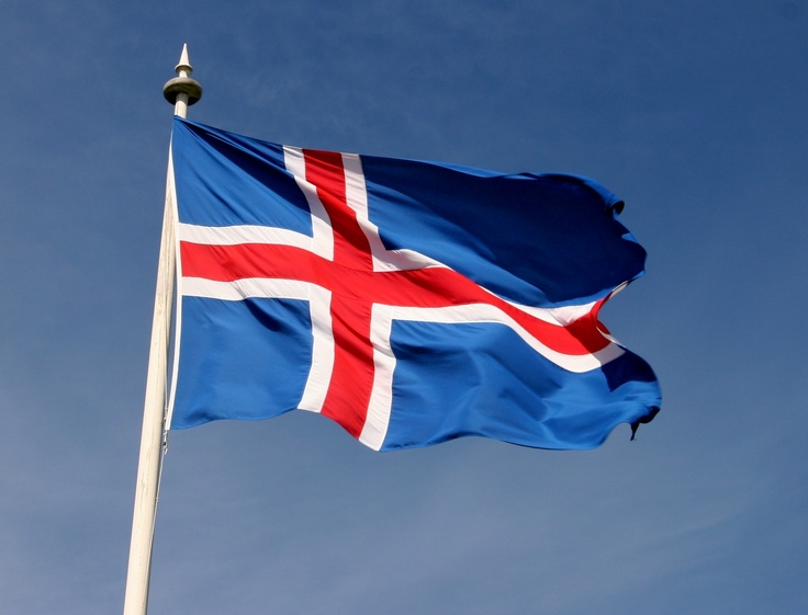 Nationalist Party of Iceland Flag Type 2 by AryanLegion on