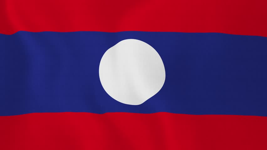 Laos Flag Current and History of Laos Flags
