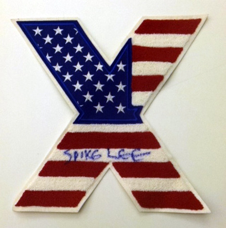 Vintage American flag MALCOLM X patch custom made for the Official