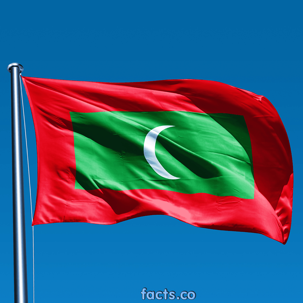 The official flag of the Maldives