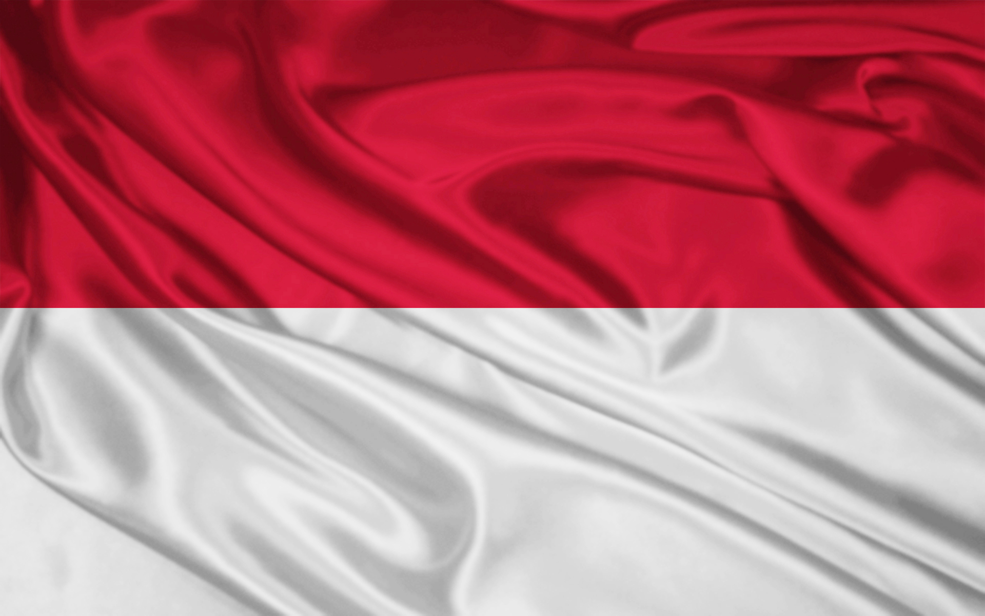What is the difference between the flag of Indonesia and Monaco