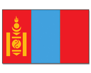 Flag Mongolia Animated Flag Gif