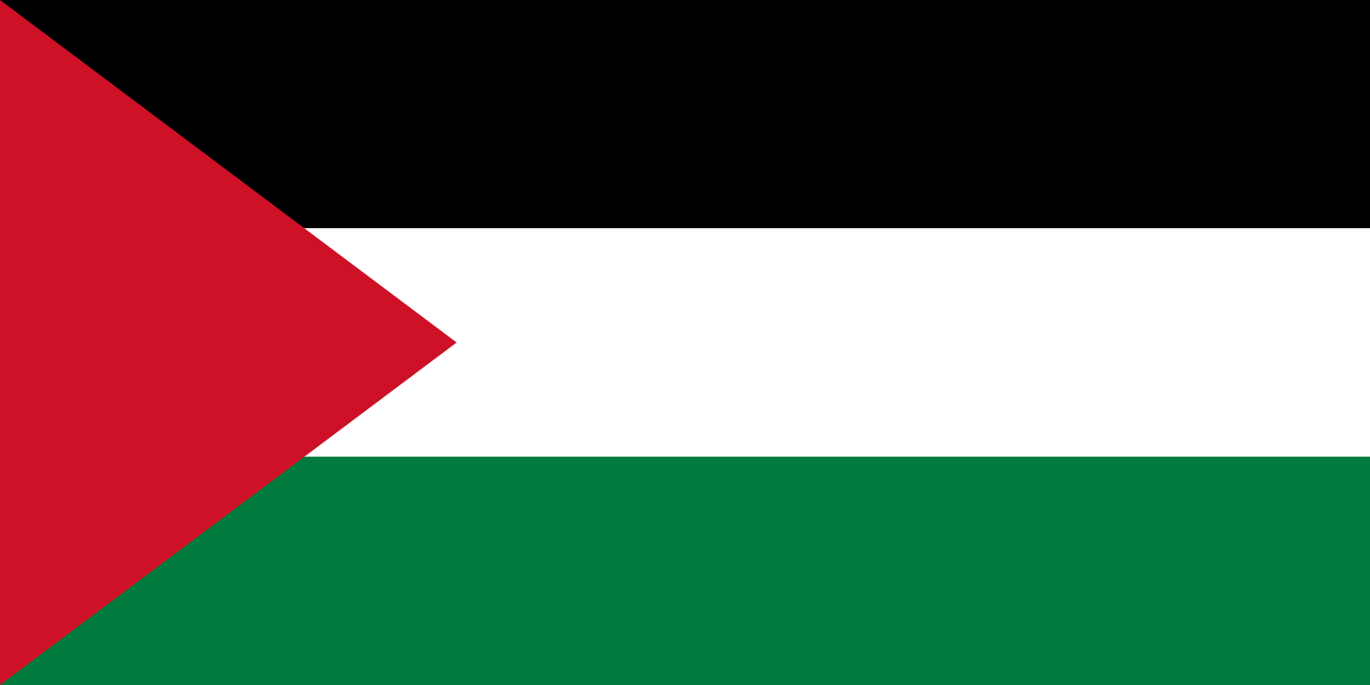 Palestinian Flags (Palestine) from The World Flag Database