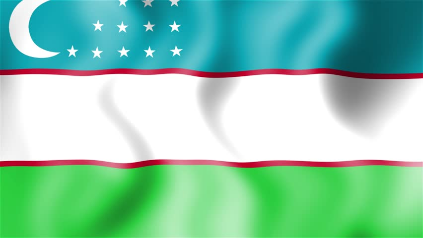 The State Flag of the Republic of Uzbekistan