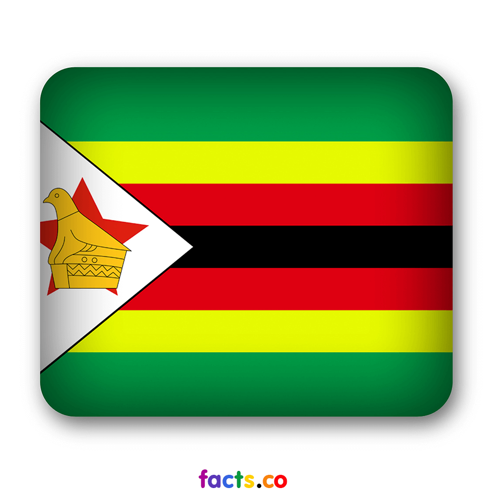 The official flag of the Zimbabwe