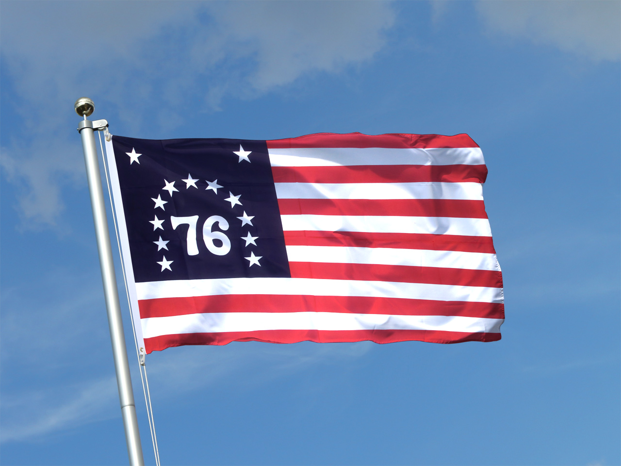 Buy USA Bennington 76 Flag 3x5 ft (90x150 cm) Royal Flags