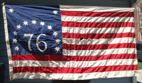 Vintage/Bennington Flag 76/ 1776 Revolutionary