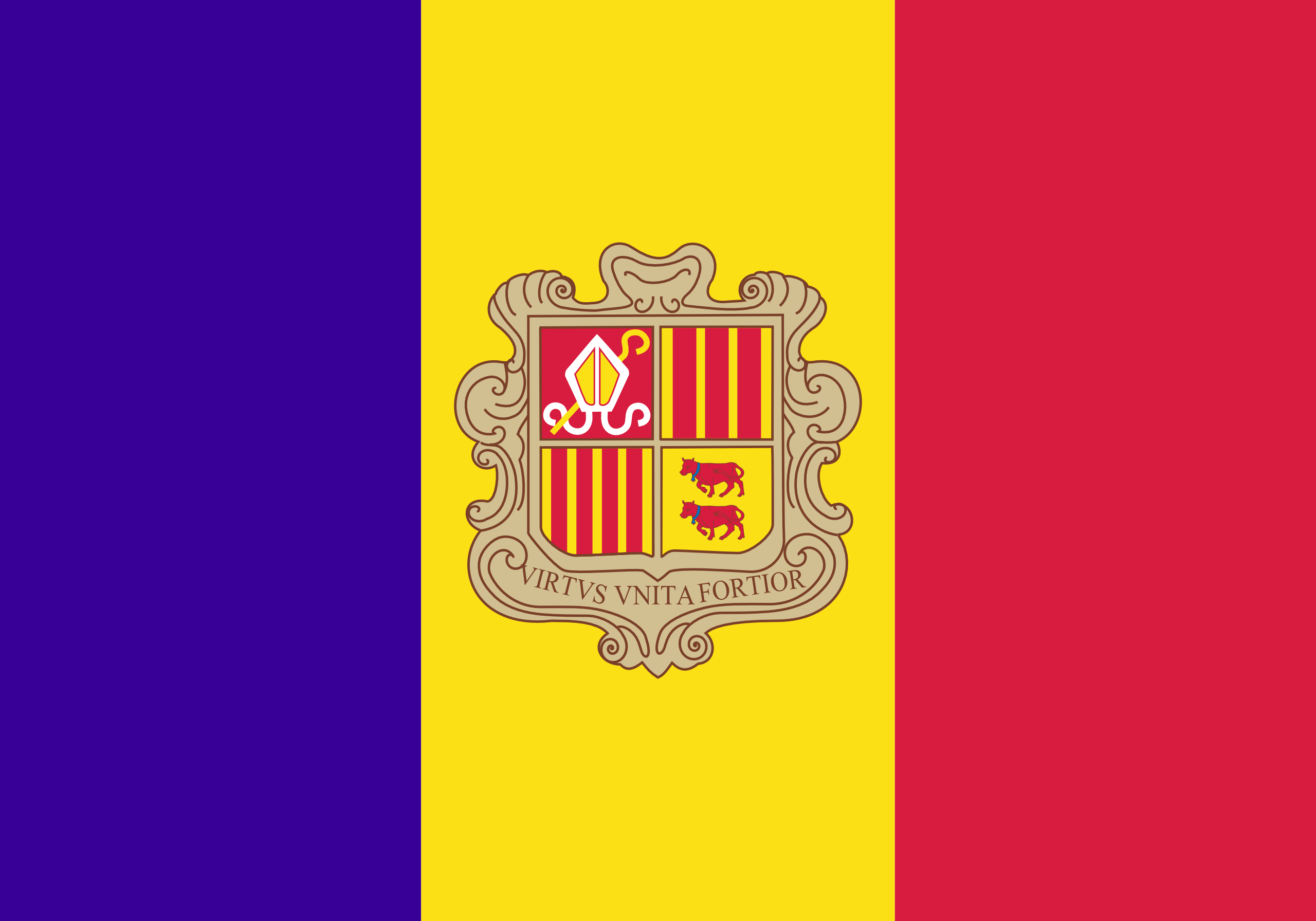 Andorra Flags and Symbols and National Anthem