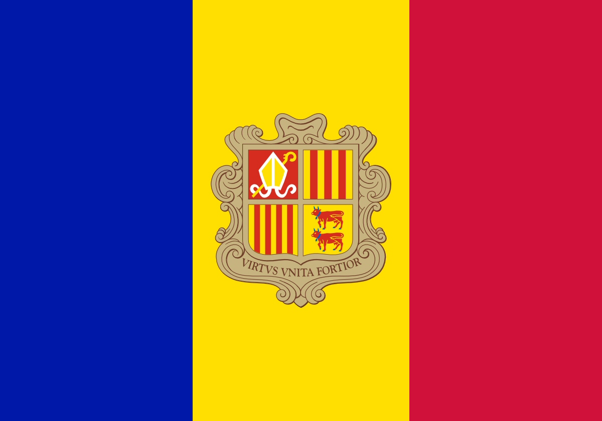 Andorra Flag colors meaning history of Andorra Flag