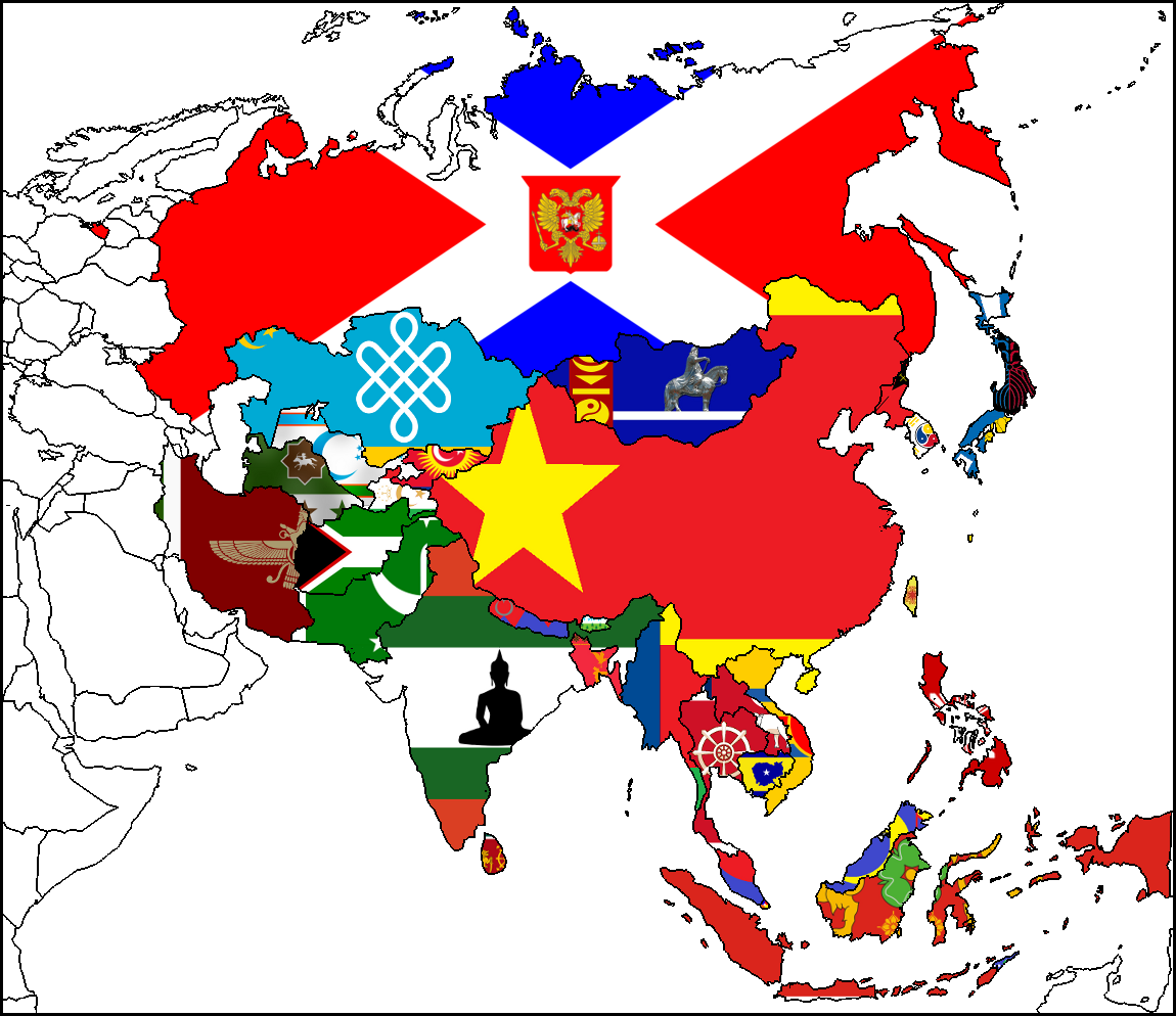 Alternate Asia Flag Map Project on MapsAndFlags DeviantArt