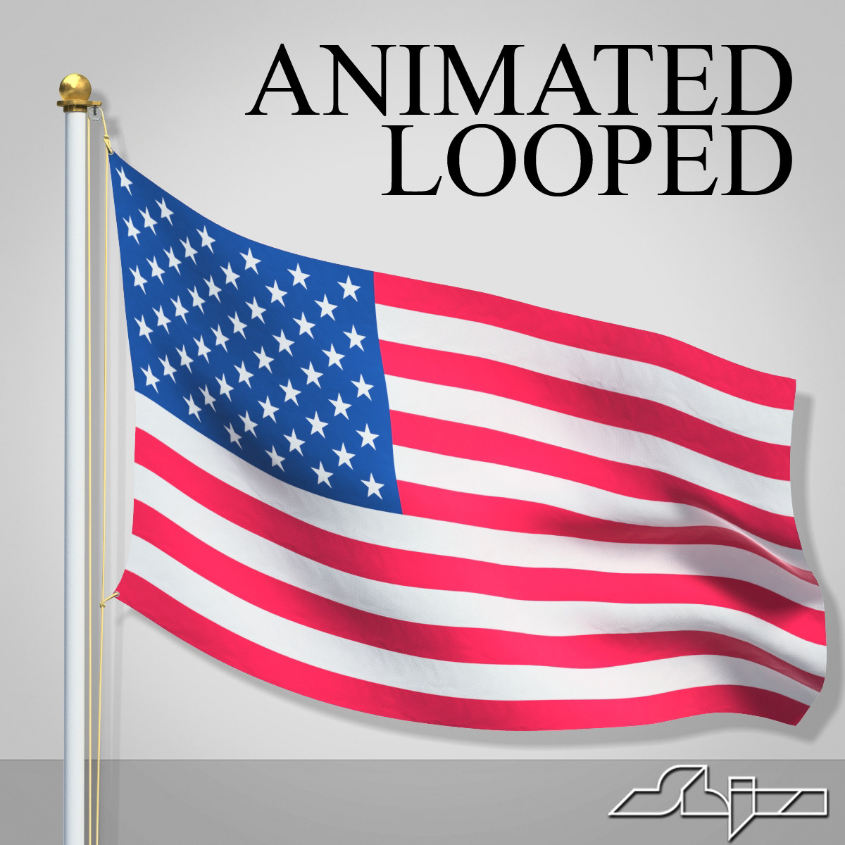 usa flag animation looped