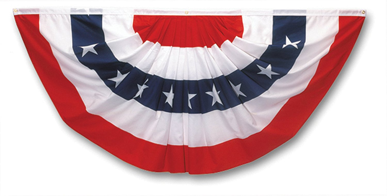 Valley Forge Flag 3 Foot x 6 Foot Pleated Full Fan Flag With Stars