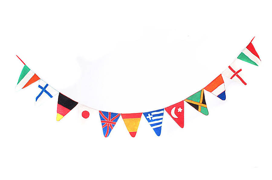 International flag bunting clipart ClipartFest