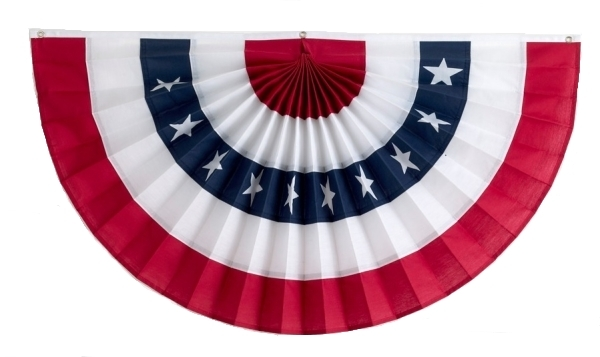 American Flag Bunting Pleated Fans | Independence Bunting