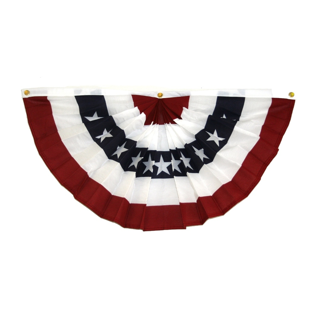 "Made In The USA 36"" American Flag Fan Bunting"