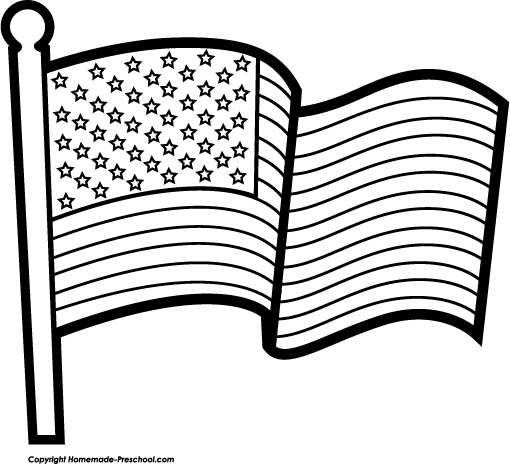 American Flag Black And White Clipart Clipart Kid
