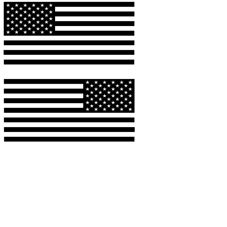 Flag Small Decal Mirror Imaged SET