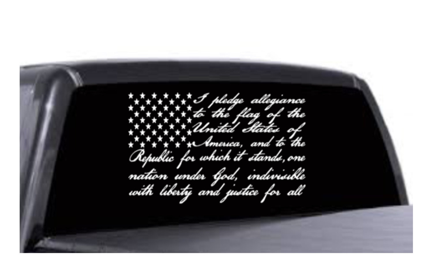 American Flag Distressed Decal Set! 7x4