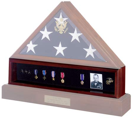 Flag display cases, veterans flag cases