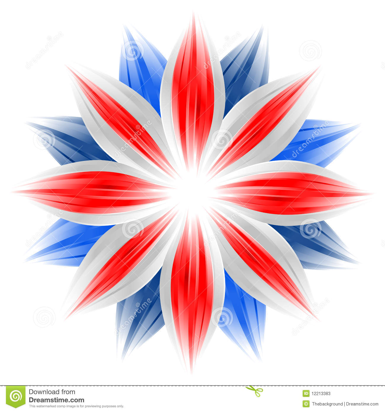 Flower With British Flag Colors Stock Photos Image: 12213383