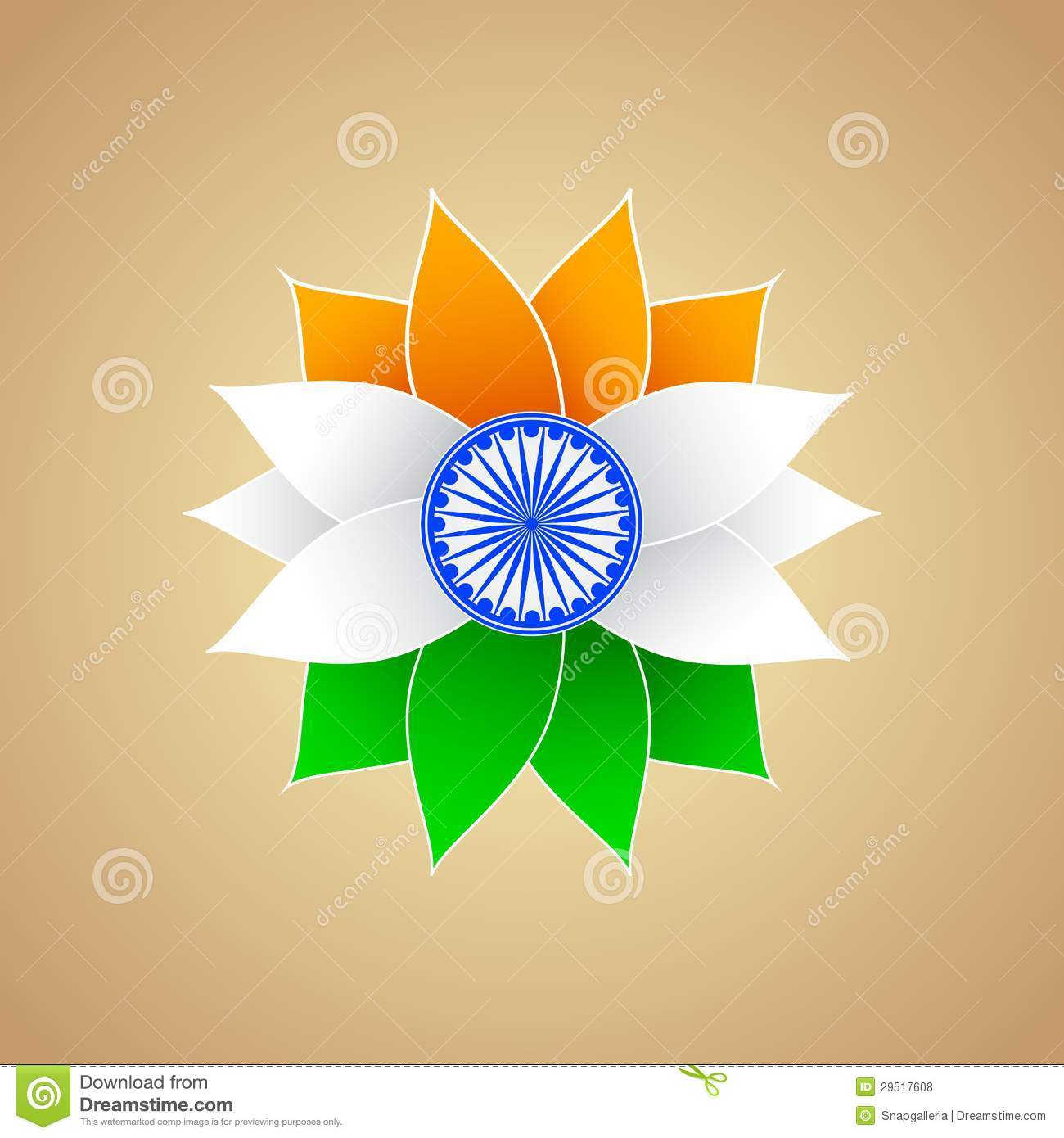 Indian Flag Color Flower Royalty Free Stock Photos Image: 29517608