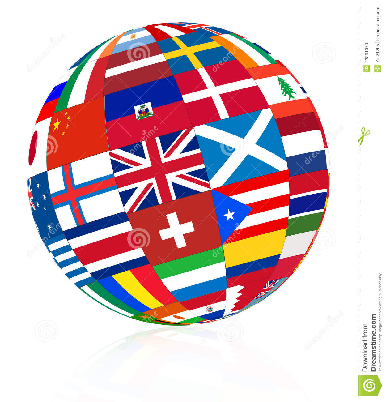 Flag Globe Royalty Free Stock Photos Image: 23391078