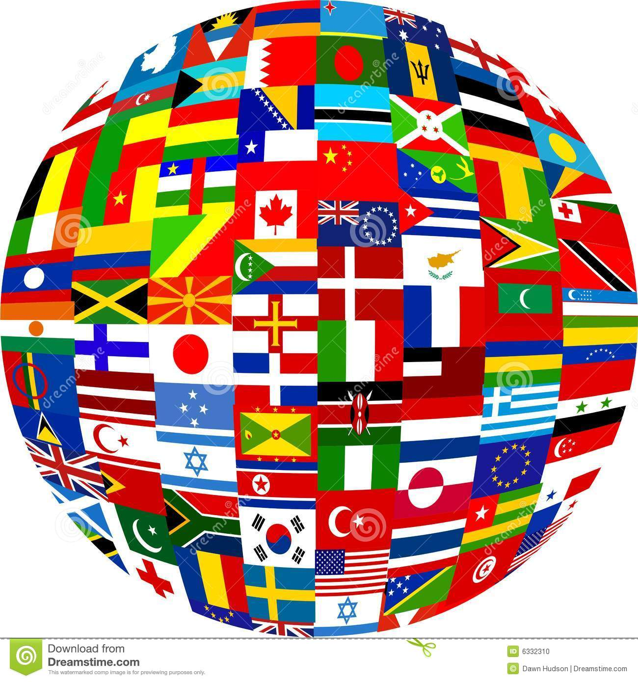 Flag Globe Stock Photo Image: 6332310