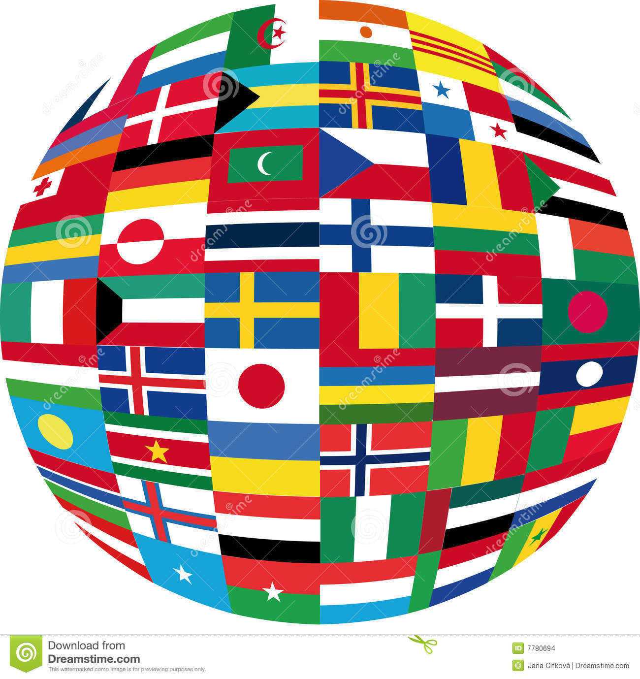 Big Flag Globe Royalty Free Stock Photography Image: 29031137