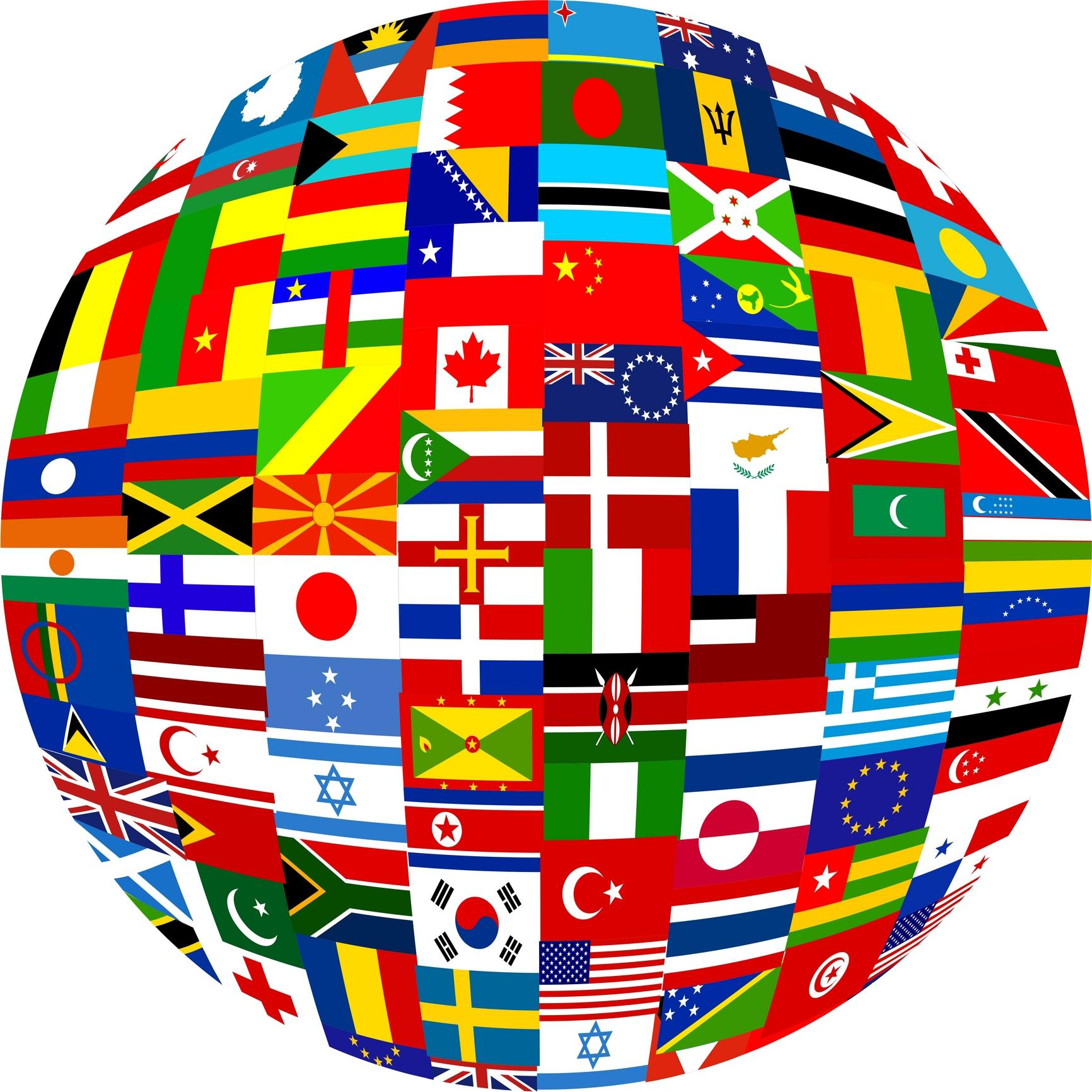 World Flag Globe Clip Art – Clipart Download